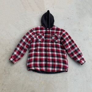 Wrangler Quilted Flannel Hoodie